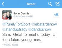 John Dennis Tweet